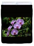 Beautiful Violet Purple Orchid Flowers Duvet Cover