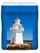 Beautiful Wairapa Point Lighthouse The Catlins Nz Duvet Cover