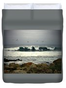 Beautiful Waves On The Monterey Peninsula Duvet Cover