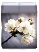 Beautiful White Blossoms Duvet Cover