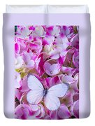 Beautiful White Butterfly Duvet Cover