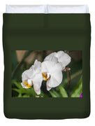 Beautiful White Orchids Flower Bloom Duvet Cover