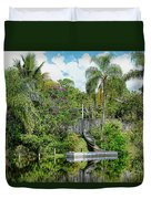 Beautiful Winter Day In Florida  Duvet Cover