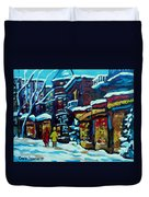 Beautiful Winter Evening Duvet Cover