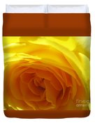 Yellow Rose Macro Duvet Cover