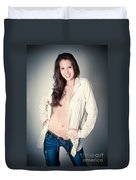 Beautiful Young Woman Duvet Cover