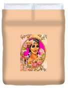 Beauty And Flowers 1 Duvet Cover