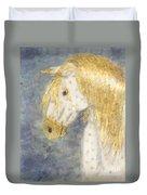 Beauty And Strength  Golden Appaloosa Duvet Cover