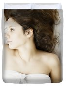 Beauty In White Duvet Cover by Margie Hurwich
