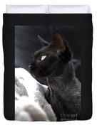 Beauty Of The Rex Cat Duvet Cover