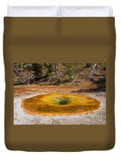 Beauty Pool In Upper Geyser Basin In Yellowstone National Park Duvet Cover
