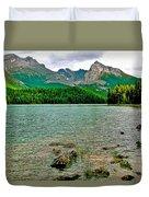 Beauvert Lake In Jasper Np-ab Duvet Cover