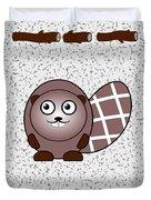 Beaver - Animals - Art For Kids Duvet Cover