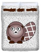 Beaver - Animals - Art For Kids Duvet Cover