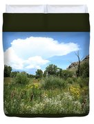 Beaver Creek Valley In Colorado Duvet Cover