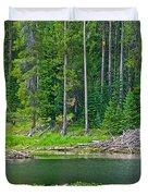 Beaver Dam In Heron Pond In Grand Teton National Park-wyoming Duvet Cover