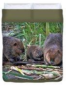 Beaver Family Duvet Cover