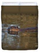 Beaver Swimming Duvet Cover