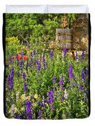 Becker Vineyards' Flower Garden Duvet Cover