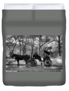 Beckoning Carriage Duvet Cover
