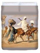 Bedouin Family Travels Across The Desert Duvet Cover