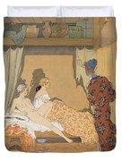 Bedroom Scene Duvet Cover
