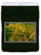 Bee And Goldenrod Duvet Cover