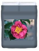 Bee And Wasp On Camellia Duvet Cover