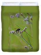 Bee Blue Duvet Cover
