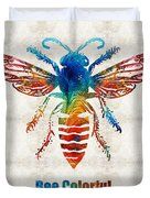 Bee Colorful - Art By Sharon Cummings Duvet Cover