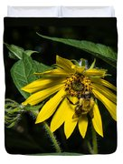 Bee In A Wild Flower Duvet Cover