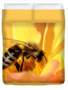 Bee In Flower Duvet Cover
