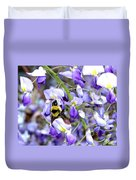 Bee In The Wisteria Duvet Cover