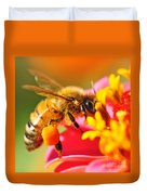 Bee Laden With Pollen 2 By Kaye Menner Duvet Cover