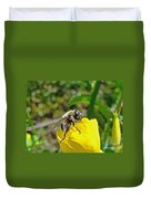 Bee Mimic On Primrose Duvet Cover