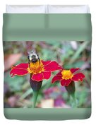 Bee On A Marigold 2 Duvet Cover