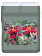 Bees On A Marigold 4 Duvet Cover