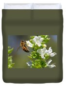Bee On Basil Duvet Cover