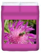 Bee On Corn Flower Duvet Cover