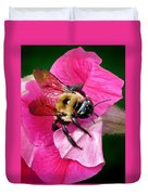 Bee On Petunia Duvet Cover