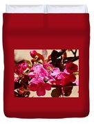 Bee On Pink Blossoms 031015aa Duvet Cover