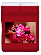 Bee On Pink Blossoms 031015ab Duvet Cover