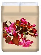 Bee On Pink Blossoms 031015ac Duvet Cover