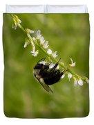 Bee On Wildflower Duvet Cover
