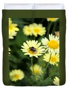 Bee On Yellow Duvet Cover
