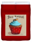 Bee Sweet Cupcake Duvet Cover by Catherine Holman