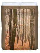 Beech Wood In Autumn Duvet Cover