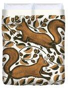 Beechnut Squirrels Duvet Cover