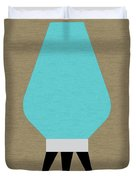 Beehive Lamp Turquoise Duvet Cover