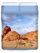 Beehive Rock Formation Under A Stormy Sky In Nevada Valley Of Fire State Park Duvet Cover